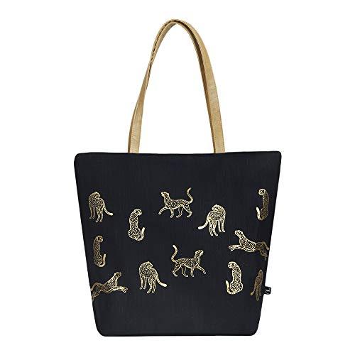 EcoRight Classic Jute Canvas Tote Bag Purses for