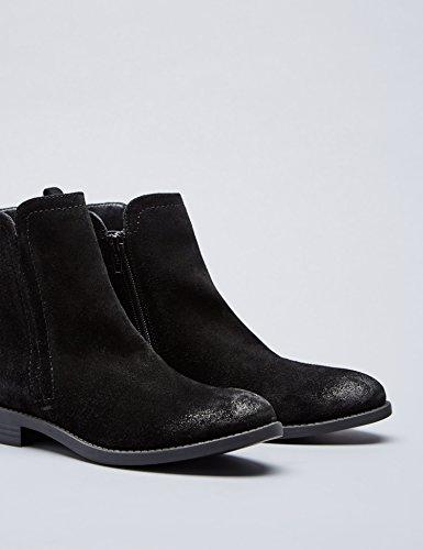 FIND Damen Boots Schwarz Seitlichen mit Chelsea Black Cutouts r8Hw8