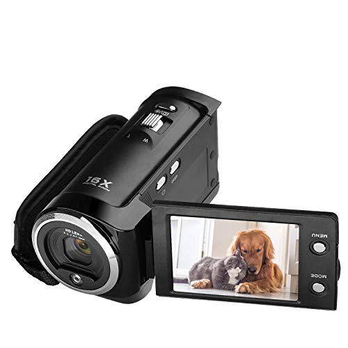 KINGEAR PL009 720P 16MP Digital Video Camcorder Camera DV DVR 2.7inch TFT LCD with 16x Zoom