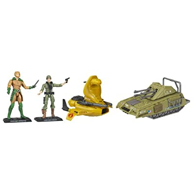 G.I. Joe Armadillo Tank vs. Serpentor's Air Chariot: Toys & Games