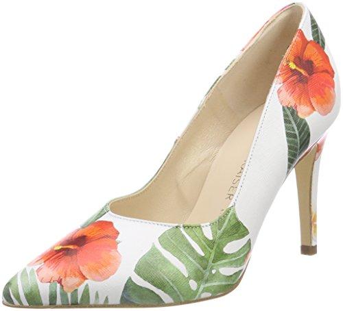 Zapatos para Peter Danella 679 Multicolor Kaiser Mujer de con tacón Cerrada Tropica Punta Multi qg8EgwrZ