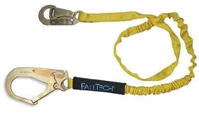 FallTech 82593 Internal 6-Foot Shock Absorbing Lanyard with Rebar Hook