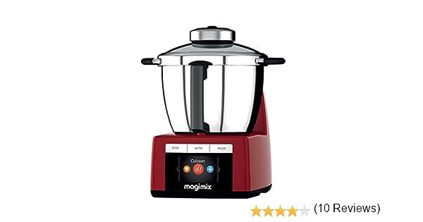 Magimix 18904 - Robot de cocina (Rojo, Acero inoxidable, Acero inoxidable): Amazon.es: Hogar