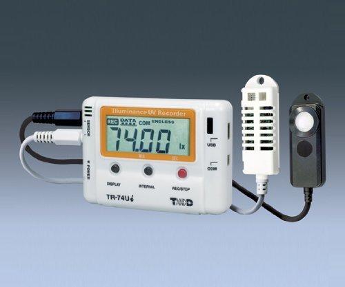 ティアンドデイ1-1879-01紫外線照度温湿度データロガーTR-74Ui B07BD2Q8F4