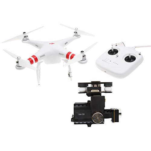 DJI Phantom 2 Quadcopter V2.0 Bundle, 3-Axis Zenmuse H4-3D Gimbal for GoPro Hero 4 Black (White) -