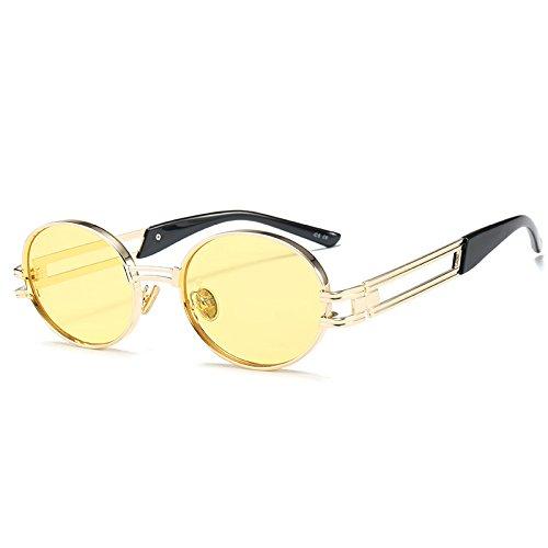 Hueco de Las de Sun la Peque Las Vendimia Templo de Sol o Pynxn C1 vidrios los Amplio de de Fuera oras del Se de Gafas Mujeres Punky Amarillo Gafas C5 Estilo Grises ¨®Valo Fashion Completa de USp4X4nwqP