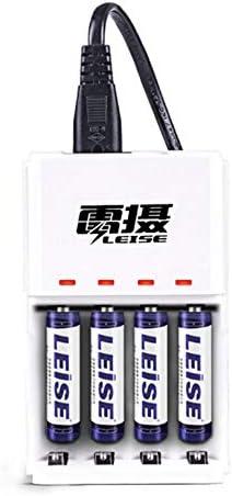 gfjfghfjfh Smart Fast Charger Set mit 4 AAA 950mAh Akku + 4 Slot Ladegerät KTV Mikrofon/Spielzeug/Tastatur Maus