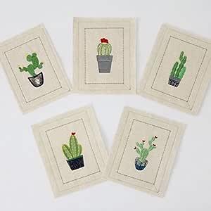Juego de ropa de tejido de cactus bh exploración bordado bordado ...