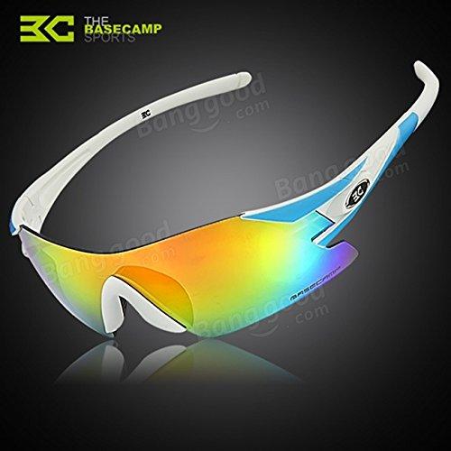 Moppi Moto polarizado ciclismo bicicleta uv polaroid gafas de sol gafas de sol: Amazon.es: Deportes y aire libre