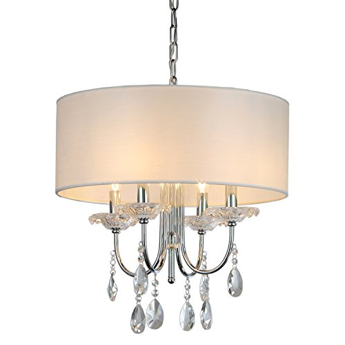 Whse of Tiffany RL1362/4 Alexandria Crystal Chandelier - Alexandria 4 Light Chandelier