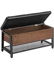 VASAGLE Storage Bench, Shoe Bench, Bed End Stool, Storage Chest