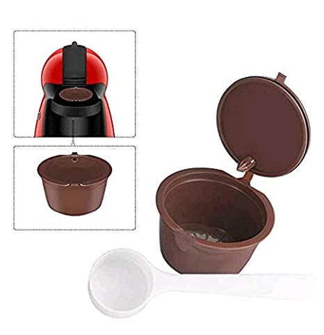 Beautylife Capsule ricaricabili di caffè,capsule filtro, colore marrone con cucchiaio di plastica (1 CAPSULES)