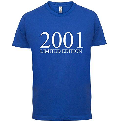 2001 Limierte Auflage / Limited Edition - 16. Geburtstag - Herren T-Shirt - Royalblau - XXL