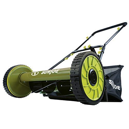 Snow Joe MJ500M 16 inch Manual Reel Mower w/Grass Catcher