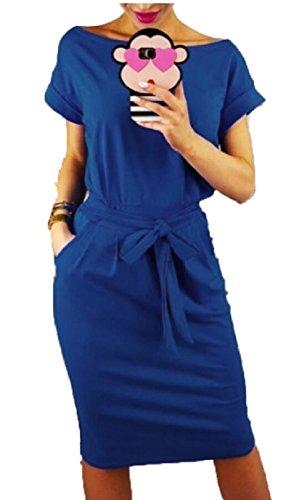 Summer Dresses Blue Sleeveless Casual Women's Pockets Beach Jaycargogo gwq8a8
