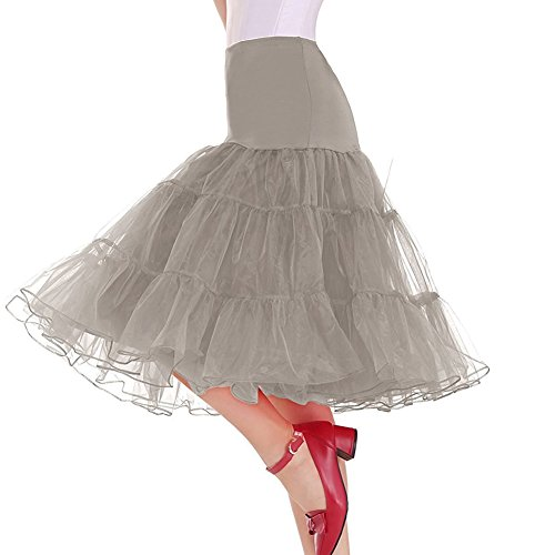 - Oliveya Womens Grey Petticoat Bridal Net Crinoline Tulle Wedding Underskirt 3XL