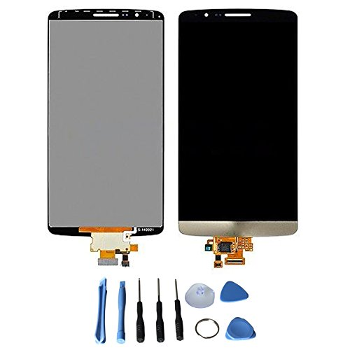 LCD display Touch Screen Digitizer Assembly for LG Optimus G3 D830 D855 D851 VS985 D850 with free tools (Black+Gold)