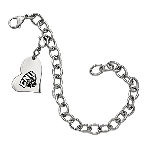 Christopher Newport Captains Stainless Steel Heart Bracelet