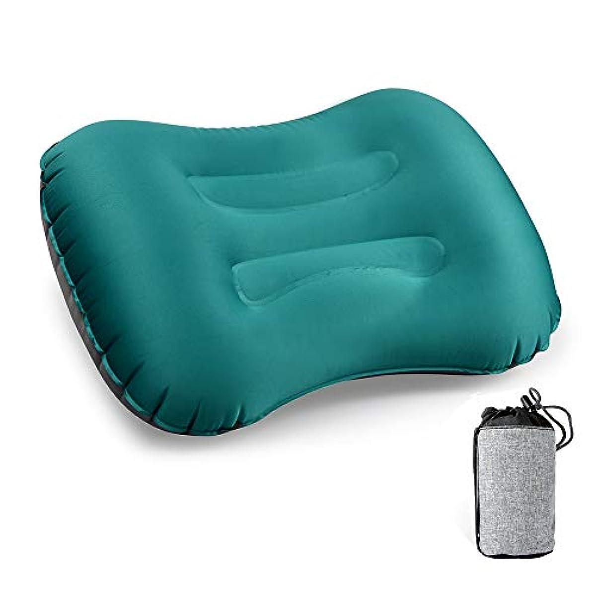 [해외] 에어 pillow,CCYCCL 초경량 콤팩트 부드럽 캠프침 공기침 휴대 쿠션 여행캠프차 안박아웃도어 수납 파우치 부착