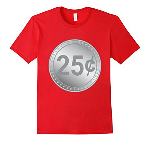 Quick And Easy Halloween Costumes For Teachers (Mens Gumball Machine Quarter Couples Halloween Costume T-Shirt 2XL Red)