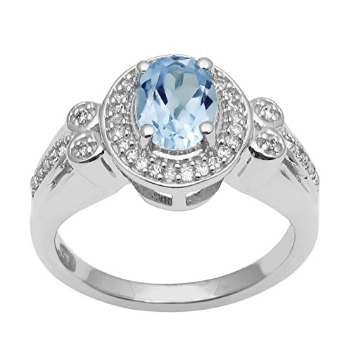 Blue Topaz .925 Sterling Silve