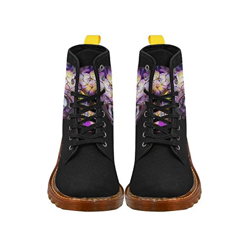 Leinterest Amazing Floral Skull Martin Boots Fashion Shoes Voor Heren