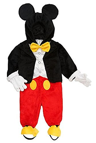 Disney Infant & Toddler Boys Mickey Mouse Costume Jumper with Mouse Ears Hood