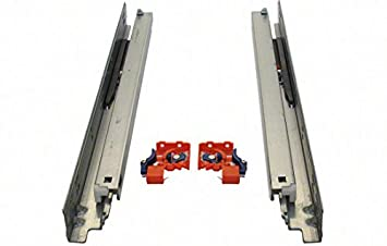 21 SLIDE UNDER MOUNT 5 PAIRS R800021 Soft Close Drawer Slides Full  Extension SMOOTH Guides