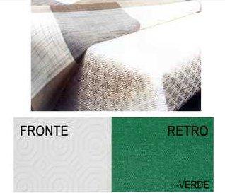 Mollettone Plastificato Salva Tavolo Proteggi Tavola Sottotovaglia 100% Made in Italy Colore Bianco e Verde Misura 4 posti cm 140x140 Tata Home