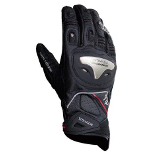 Komine GK-170 titanium sports glove black XL 06-170