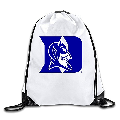 BOoottty Duke Blue Devils Logo Duke Drawstring Backpack Bag - Duke Blue Devils Gym Bag