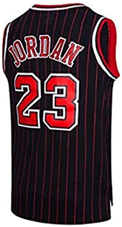 Size : XS G/&F Chicago Bulls #23 Jordan Kurzarm Basketball Trikot Schnell Trocknendes Hohe Elastizit/ät Mesh Basketball Sportbekleidung S-4XL