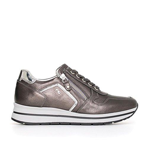 Con 101 Nero Sneaker Antracite Donna Collezione Inverno A719480d Zeppa Media Giardini 2018 2017 Autunno Nuova TwYpZq