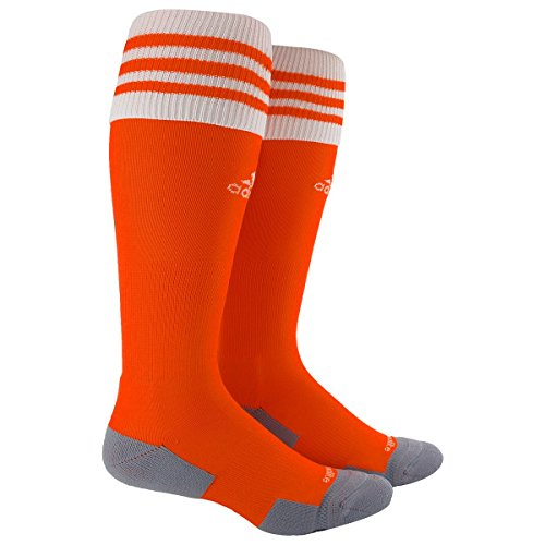 adidas Copa Zone Cushion II Soccer Socks, Medium, Orange/White (Socks White Football)