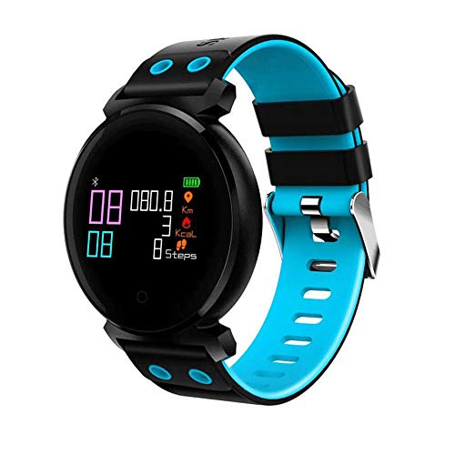 Touch Screen Outdoor Waterproof Smart Bracelet,Plus Motion Pedometer Activity Heart Rate Monitor Fitness Tracker Smart Watch, Round Dial Analogue Display Message Reminder Step Counter Smart Bracelet