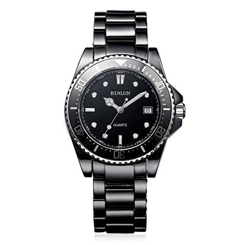 BINLUN-Mens-Dress-Watches-Classic-Black-Waterproof-Ceramic-Watch-for-Men-with-Date-Calendar