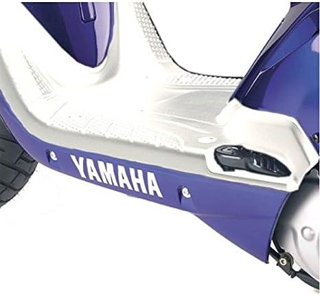 BIANCO one by Camamoto plastica pedana poggia piedi antiscivolo compatibile con mbk booster//yamaha bws anno 2004-2005-2006-2007-2008-2009-2010-2011-2014-2016-2017