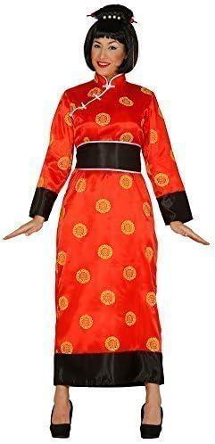 Fancy Me Mujer Rojo Chino Oriental Japonesa Kimono Alrededor del ...