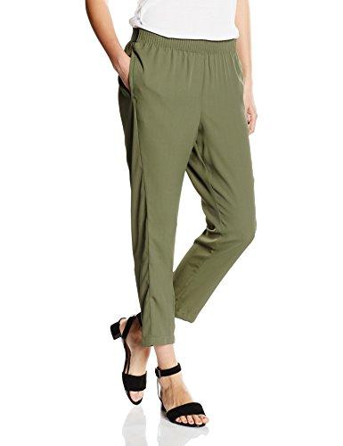 Cortefiel Pant Fluid Estrch GOM CIN, Pantalones para Mujer GREENS