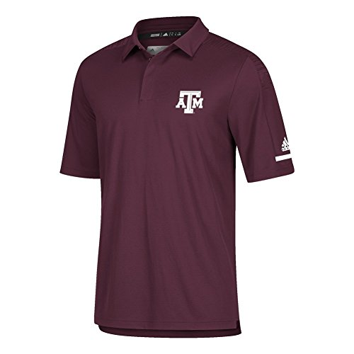 adidas Texas A&M Aggies Men's Polo Coaches Short Sleeve (X-Large)