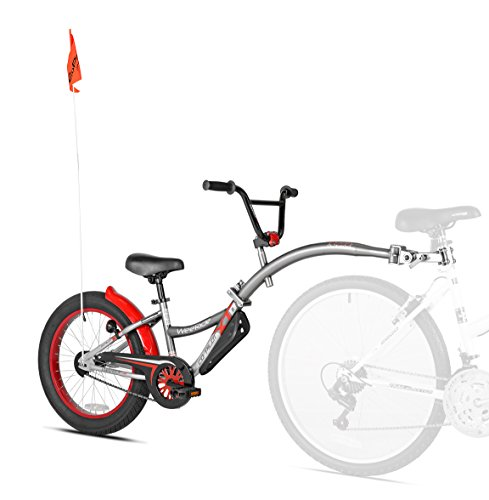 WeeRide Co-Pilot XT Deluxe Wide Tire Bike Trailer, Grey
