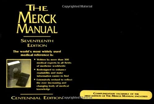the merck manual of diagnosis and therapy 17th edition centennial rh amazon com 1899 Merck Manual Online Merck Manual Pocket Size