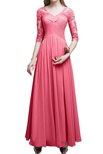 Ivydressing - Vestido - trapecio - para mujer Wassermelone