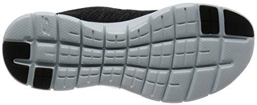 Skechers (SKEES) FLEX APPEAL 2.0-HIGH ENERGY - Zapatillas de deporte para mujer, color negro, talla 35.5