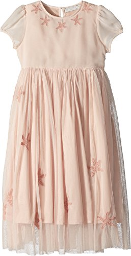Stella McCartney Kids Baby Girl's Maria Cap Sleeve Tulle Dress w/Star Patches (Toddler/Little Kids/Big Kids) Pink (Cotton Cap Sleeve Shell)