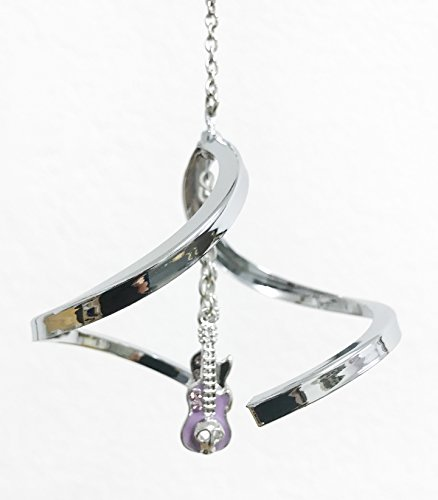 Crystal Delight by Mascot Propelling Spiral Ornaments - Cross or Guitars (Guitars - Purple)