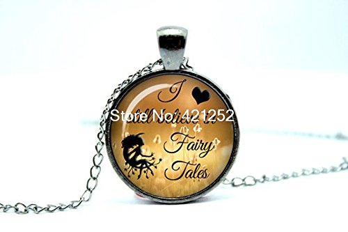 Pretty Lee 2015 Fashion I Still Believe In Fairy Tales 398.2 Card Catalog Necklace Fairy Tale Jewelry Glass Photo Cabochon Necklace Christmas (Fairy Catalog)