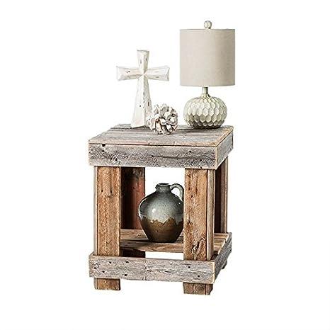 Amazon.com: Dakoda Love – Rústico barnwood mesa auxiliar, EE ...