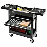 27'' 2-Drawer Tool Cart W/ Sliding Top