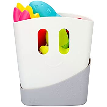 Ubbi Freestanding Bath Toy Organizer Bath Caddy With Removable Drying Rack  Bin And Scoop For Bath Toys For Toddlers + Baby   Gray